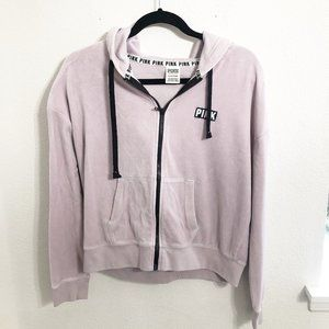PINK Victoria's Secret Pink Velour Track Jacket
